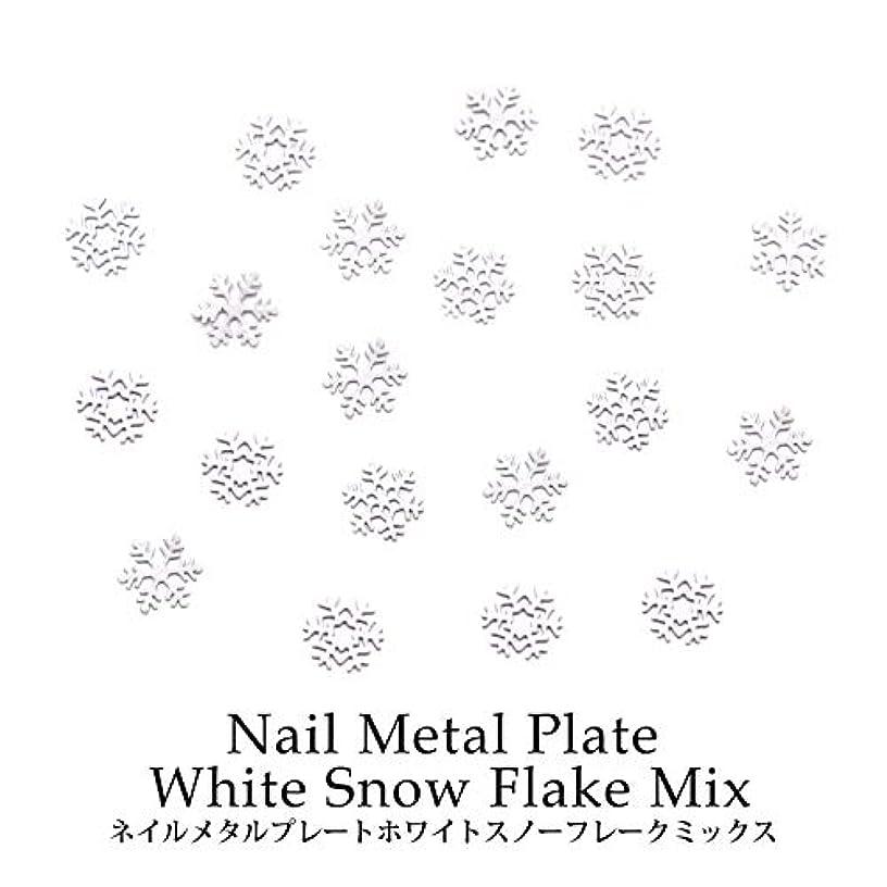 エリート適応メナジェリーネイル メタルプレート ホワイトスノーフレーク ミックス 約0.5g ケース入り