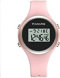 PANARS 腕時計 レディース デジタル腕時計 防水 おしゃれ ストップウォッチ 女の子 ミニ - 日本語の説明書 - 8122(ピンク)
