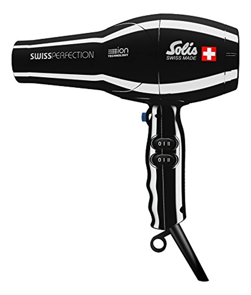 再生ベアリングサークルお父さんソリスプロフェッショナル仕様ドライヤー、温風温度77℃で髪にやさしい、イオンテクノロジー、スイスパーフェクション (SD440B)、黒