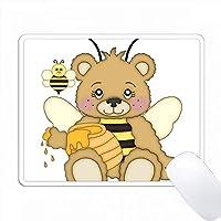 かわいいハニーベアハニーとハニービーイラスト PC Mouse Pad パソコン マウスパッド