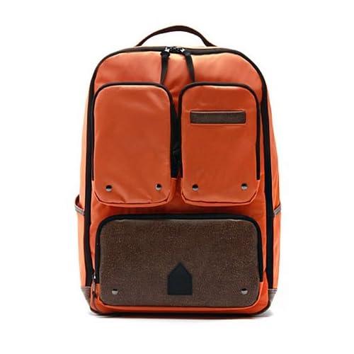 【高品質 メンズバッグ-Mstation】ビジネス/アウトドアにもOK! 収納たっぷり!4色/2WAY展開!『リュック メンズ/リュック メンズ おしゃれ/リュック 大容量/リュック アウトドア』就活 バッグ メンズ (オレンジ(Orange))