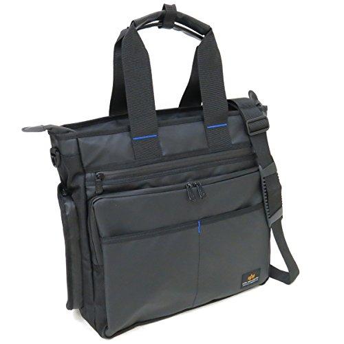 (アルファ インダストリーズ) ALPHA INDUSTRIES INC アルファ 4806 A4ファイルサイズ PC収納可能 レインシリーズ 3WAY仕様 38cm トートバッグ ブラック