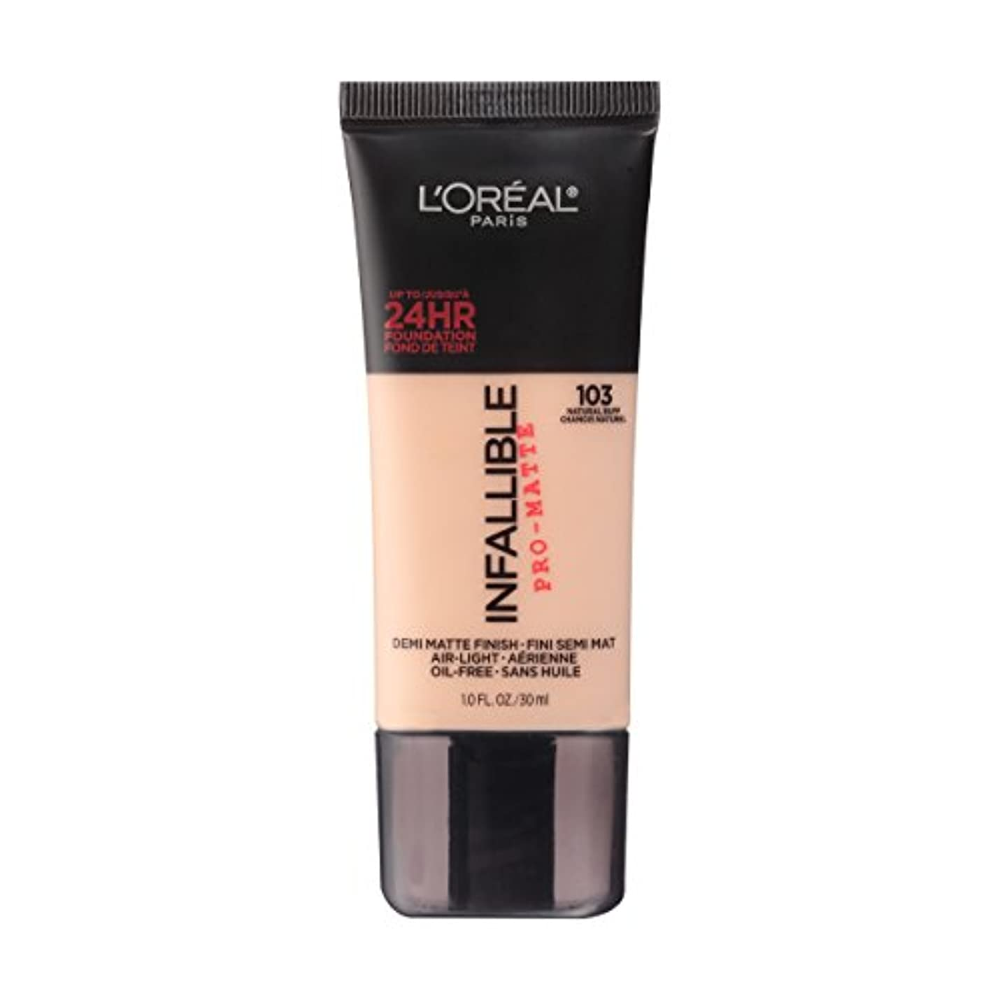 ブル亜熱帯疫病(6 Pack) L'OREAL Infallible Pro-Matte Foundation - Natural Buff (並行輸入品)