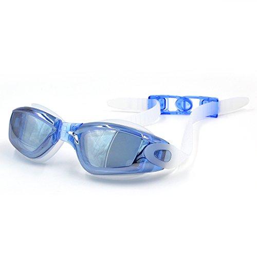 【ECMAX】【全2色】ブルー -6.0 スイミングゴーグル...