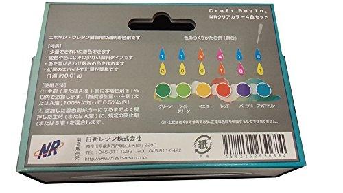 日新レジン NRクリアカラー4色セット