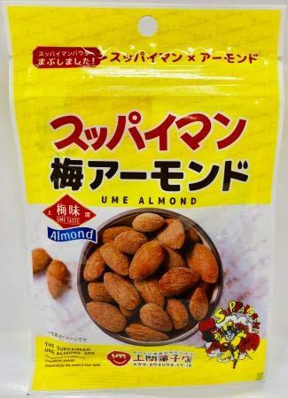スッパイマン梅アーモンド30g×20袋 上間菓子店 スッパイマンパウダーをまぶした梅味のアーモンド