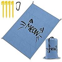 ニャー レジャー旅行シートピクニックマット防水145×200センチ折りたたみキャンプマット毛布オーニングテントライトと収納が簡単ポータブル巾着