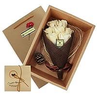 ソープフラワー 花束 バラ 誕生日 プレゼント 女性 人気 記念日 敬老の日 七夕の日valentine 結婚祝い アイデアのプレゼントお勧め 生花のように 造花インテリア シャンパン色