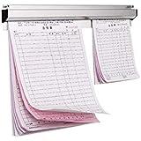 """CLWXHS 20"""" Ticket Bill Rack Order Holder Slide Rail Aluminium for Restaurant Office Hotel"""