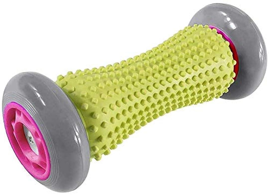 座るなかなかアルファベット順フットマッサージローラー、筋肉ローラースティック、トリガーポイントマッサージ、人間工学に基づいて設計さリフレクソロジーマッサージ、手首前腕運動ローラー、足ハンドマッサージローラー (Color : ピンク)