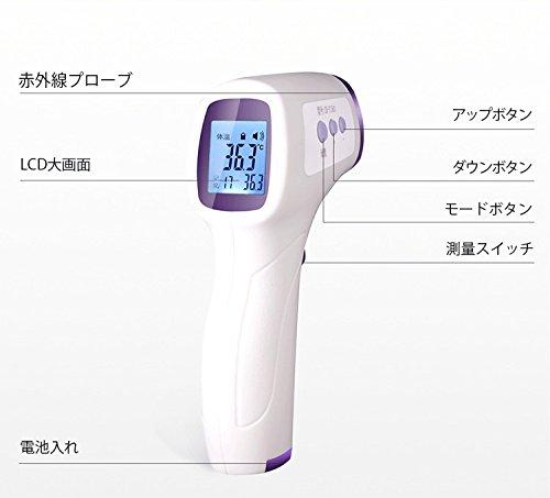 Aimshine 赤外線放射温度計 非接触レーザー温度計 デシタル測定器 【-50 ~+260℃】デジタル温度計 赤外線温度計 ガンタイプ