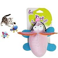 猫おもちゃ ネズミ ペットおもちゃセット運動不足 ストレス解消 キャットおもちゃ 噛むおもちゃ 子猫 成猫 ペットおもちゃマウス (ランダムな色)