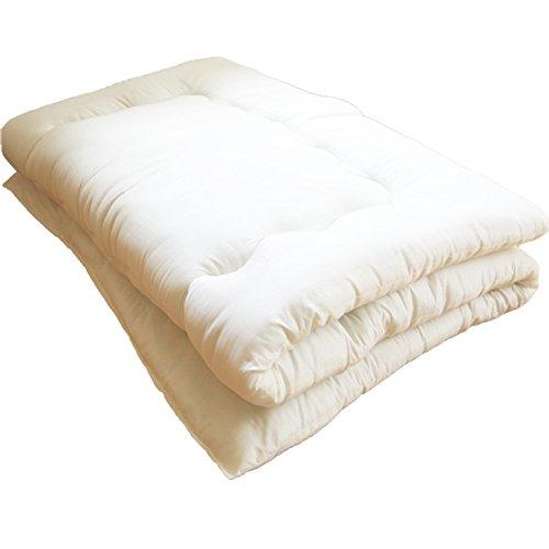 敷布団 洗える ほこりの出にくい布団 増量タイプ シングル アイボリー