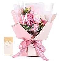 ソープフラワー ギフト 敬老の日 母の日 誕生日 プレゼント 花 記念日 造花 石鹼フラワー 開店祝い 枯れない花 お見舞い HANASPEAK ギフトボックス (ピンク)
