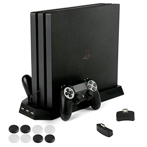 PS4 Pro 専用 縦置きスタンド PECHAM ファン付...