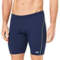 Speedo Men's Endurance+ Logo Waterboy, Navy/Safety Yellow