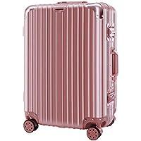 "IRVING Trolley Suitcase, Universal Wheel, Retro,20"" (53 x 36 x 24 cm), 22"" (58 x 39 x 25 cm), 24"" (64 x 42 x 27 cm), 26"" (69 x 46 x 29 cm) (Color : Pink, Size : 20 Inches)"
