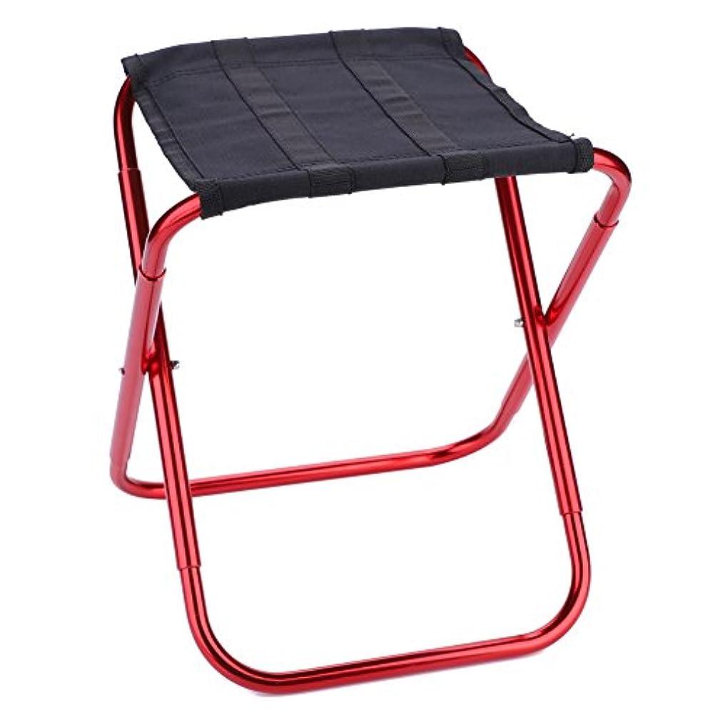 こどもセンター肉の大気アウトドアチェア 折りたたみ式 コンパクト椅子 耐荷重80kg 持ち運び便利 超軽量 高強度 収納袋付き アルミ合金 バーベキュー お釣り 登山 キャンプ 黒&赤