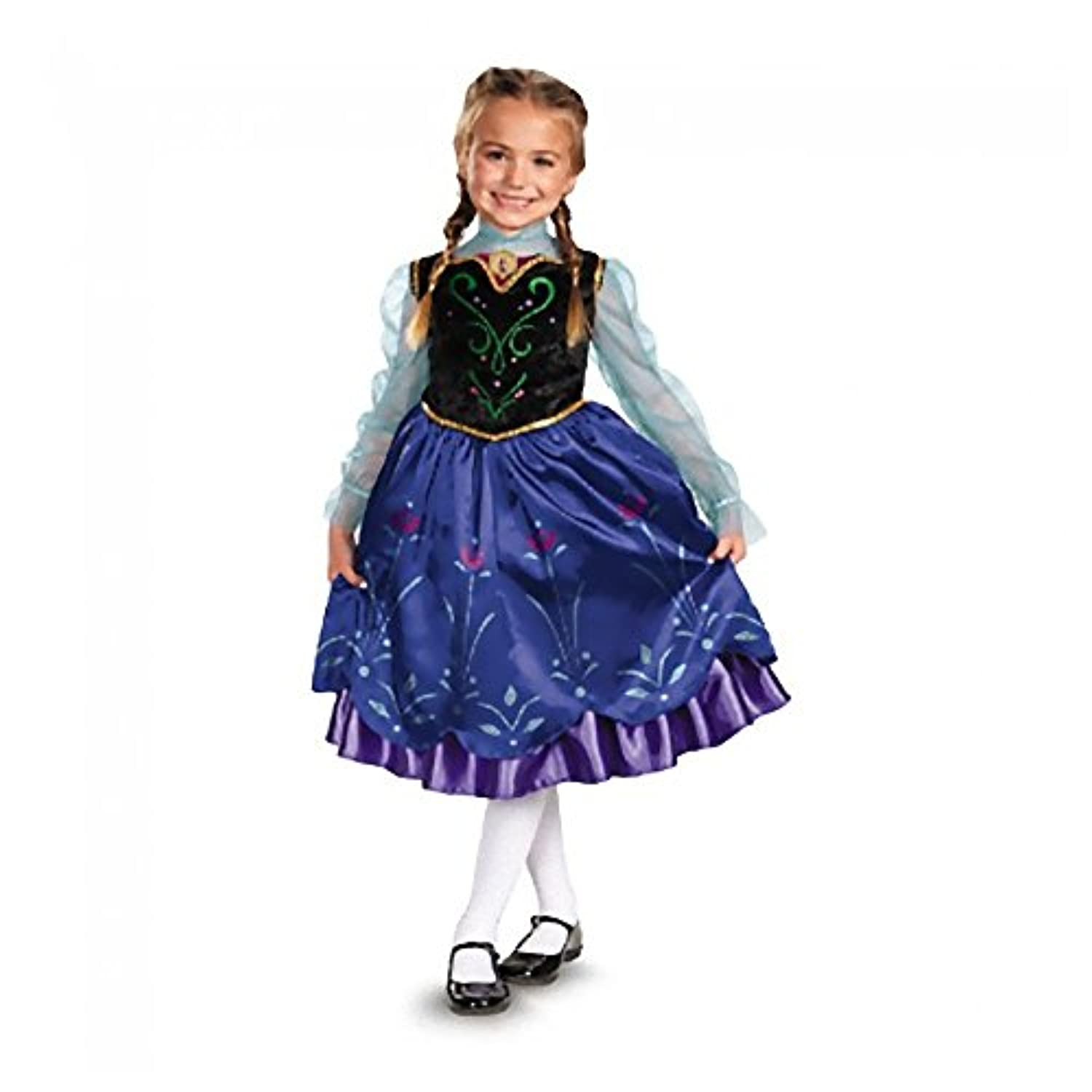 [Disguiseコスチューム]Disguise Costumes Disney Frozen Anna Dress Costume Wig Small 4 5 6 6x Petticoat Vest [並行輸入品]