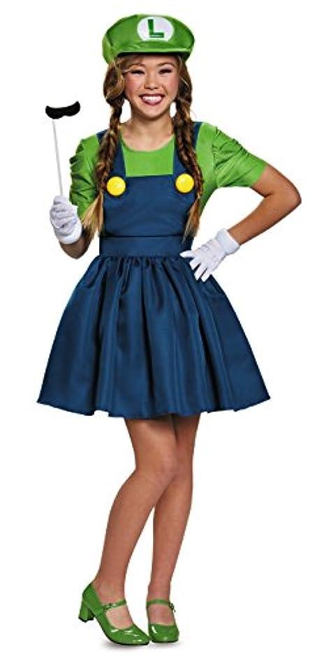 誰でも備品鋼Super Mario: Luigi w/Skirt Adult Costume Plus スーパーマリオ:ルイージ/スカート大人用コスチュームプラスのw?ハロウィン?サイズ:XL (18-20)