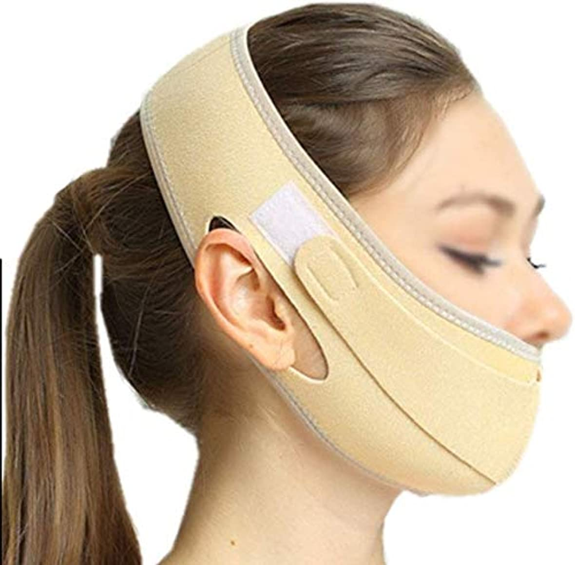 飢相関する改修美容と実用的なフェイスリフトマスク、化粧品回復マスク、薄いダブルチンリフティングスキンで小さなVフェイスバンデージを作成