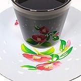 遊生活・竜玉堂 グラスに花咲く イリュージョンコースター雪椿 ・グラスセット プレゼント 布製