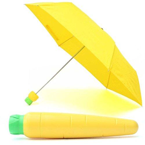 折り畳み傘 紫外線遮蔽率99% 高密度NC布 耐風撥水 可愛い (Yellow)