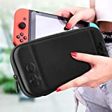 VAGHVEO Nintendo Switch ケース 保護カバー 消臭処理 EVA素材 耐衝撃 防水 防汚 10個ゲームカード収納バッグ 超軽量 持ち運び便利- ブラック