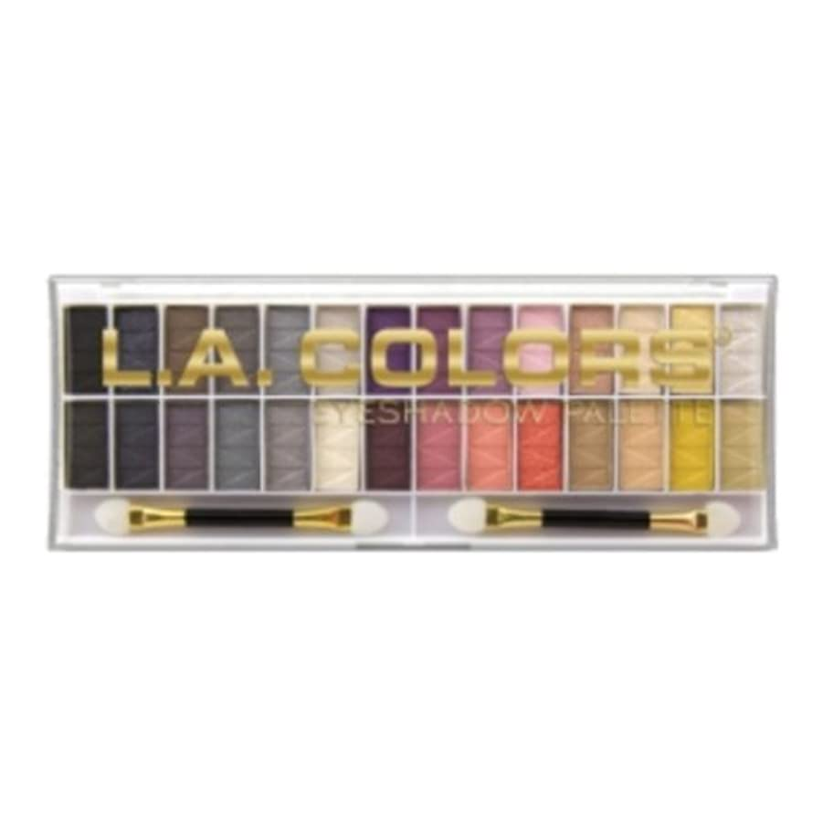 敬礼家庭接触L.A. COLORS 28 Color Eyeshadow Palette - Malibu (並行輸入品)