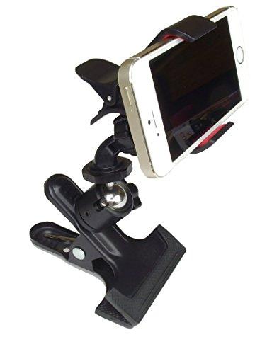 [해외]iPhone 스마트 폰용 첨부 파일 첨부 클립 자유 운대/Clip type free head with iPhone attachment for smartphone