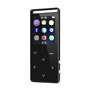 iHomepack MP3プレイヤー Bluetooth対応 歩数計機能 タッチセンサー HiFi高品質 マイクロSDカード対応 FMラジオ 録音