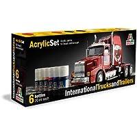 ITAAP0435 Italeri Acrylic Paint Set - International Trucks and Trailers by Italeri