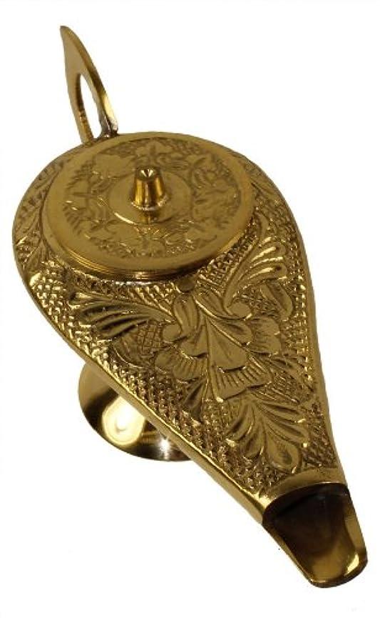 蓄積する群集バランスのとれた6インチ真鍮製アラジンGenieランプ: Incense Burner