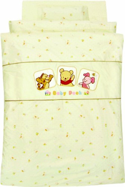 Disney ベビープー<Petit Garden> 日本製丸洗い組布団10点セット Z1106-05-10