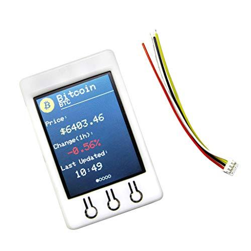 H HILABEE ESP32 BTCティッカー Arduino用 ビットコイン価格ティッカーモジュール LEDインジケータ 2.2インチ TFTディスプレイ