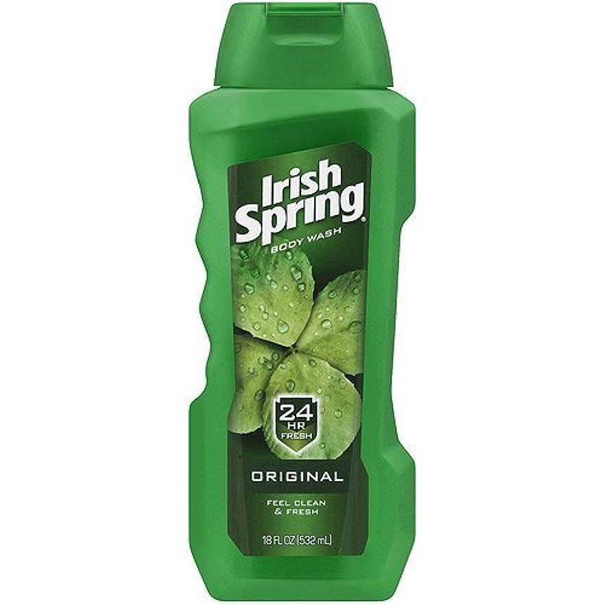 レンダリング雑草言い直すIrish Spring Body Wash, Original, 18oz by Irish Spring [並行輸入品]