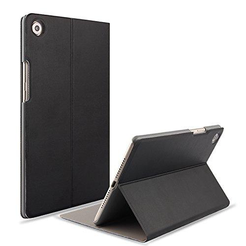【E-COAST】Huawei MediaPad M5 8.4(SHT-AL09/SHT-W09)専用ケース マグネット内蔵 スタンド機能 オートスリープ対応 液晶フィルム付 (ブラック)