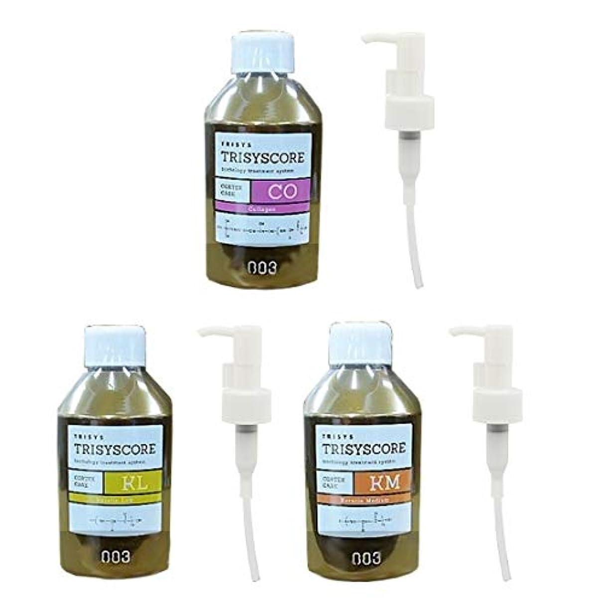 熱心微生物混合した【セット】 ナンバースリー 003 トリシスコア CO、KM、KL 各 150ml & 1mlポンプノズル×3個