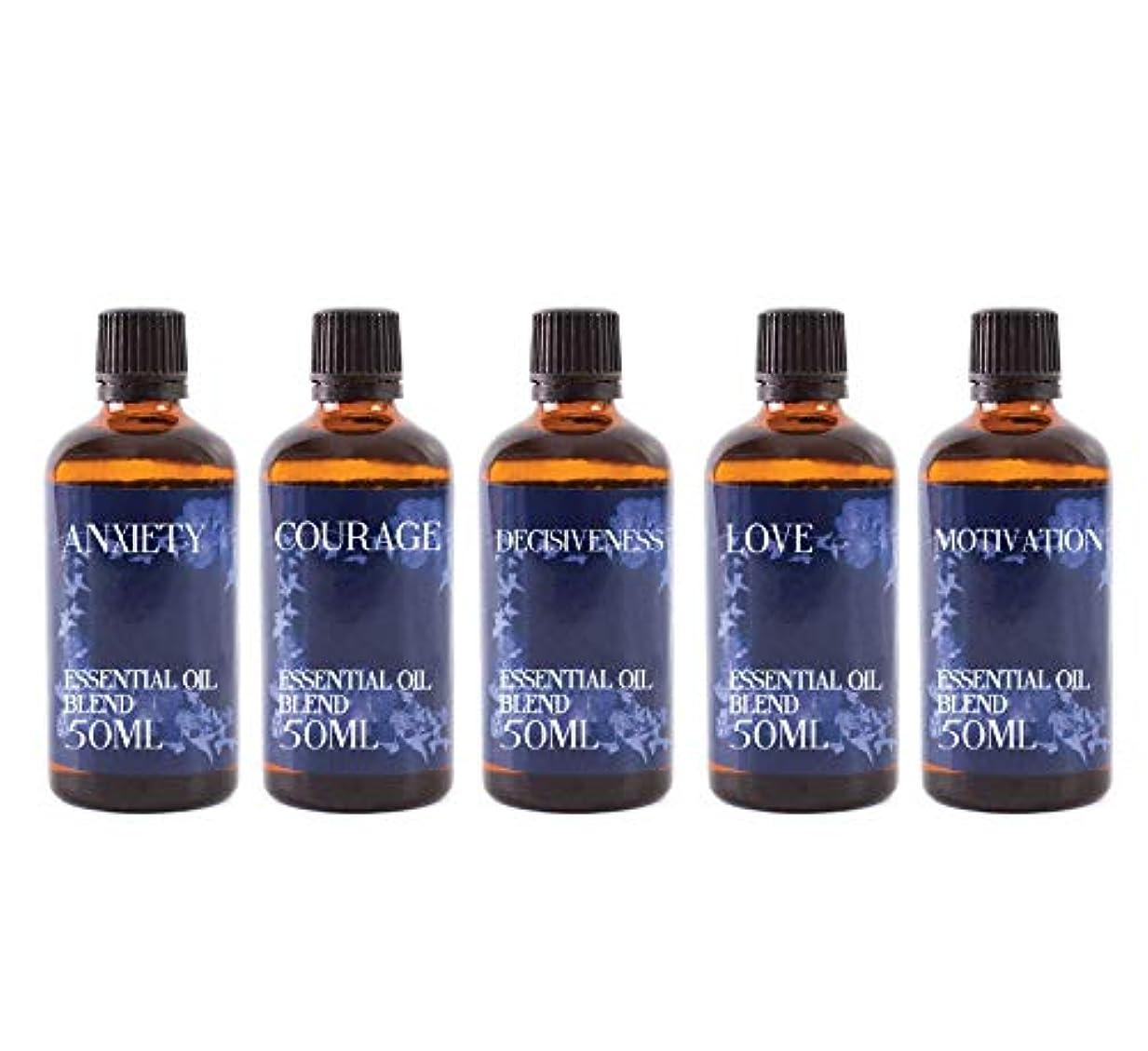 カストディアン交換可能不一致Mystix London   Gift Starter Pack of 5 x 50ml - 21st Century Struggles - Essential Oil Blends