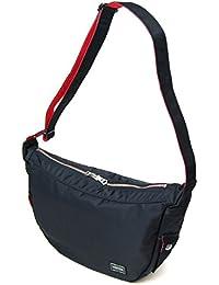 ポーターエルファイン(PORTER L-fine) PORTER×ILS共同企画 ラウンドショルダーバッグ Round Shoulder Bag ブラック(裏地:レッド) Black(Backing:Red)