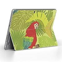 Surface go 専用スキンシール サーフェス go ノートブック ノートパソコン カバー ケース フィルム ステッカー アクセサリー 保護 鳥 インコ ボタニカル 011199