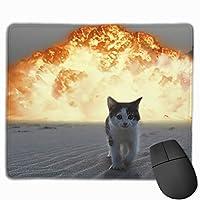 爆発猫滑り止めラバーマウスマットデスクトップ、コンピューター、PCおよびラップトップ用マウスパッド9.8 x 11.8インチ(25 x 30 cm)