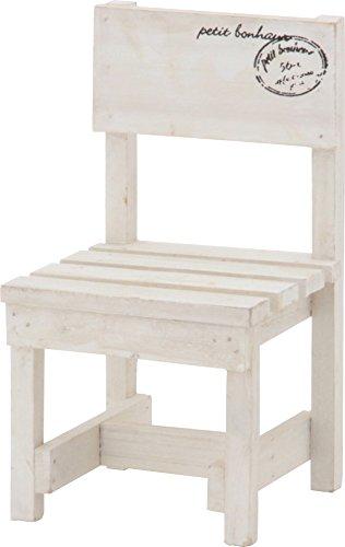 不二貿易 木製ミニチェア インテリア ホワイト 15179
