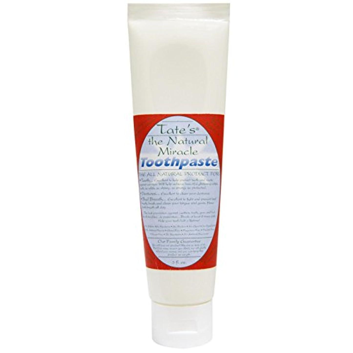 衝突コース記念日黄ばむTate's, The Natural Miracle Toothpaste, 5 fl oz