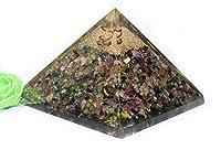 Pyramid Tatva Orgnite Pyramid - Multi Tourmaline Orgonite Size - 3-3.5 inch Natural Chakra Balancing Healing Crystal Stone