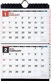 高橋 2019年 カレンダー 卓上 2ヶ月 A6×2面 E131 ([カレンダー])