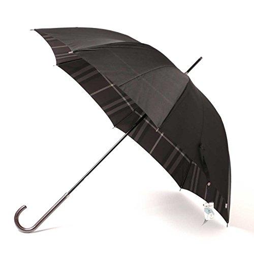傘 インナーチェック 木ハンドル 厚手生地 60サイズ 親骨60cm 全長91cm バーバリー 71846 BURBERRY ブラック メンズ