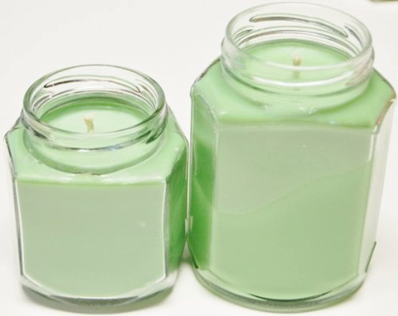 些細アラートスタジオ8 oz & 12 oz Oval Hex Soy Candle – Scotch Pine