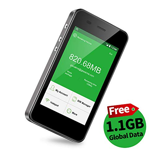 公式販売GlocalMe G3 モバイルWiFiルーター simフリー 1.1ギガ分のグローバルデータパック付け 4G高速通信 世界140国・地区以上対応 iPhone・Xperia・Huawei・Galaxy・iPadなど対応 5350mAh充電バッテリー搭載 ポケットwifi(ブラック)