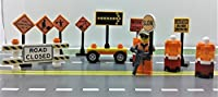 Lego City CUSTOM construction site Traffic signs. set. Ready to Play